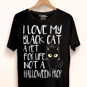 I Love My Black Cat Halloween shirt
