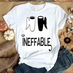 Ineffable Black And White Angle Cup Wings shirt