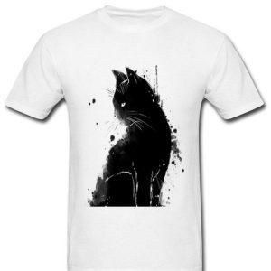 Inky Cat Black Cat Black As Midnight Sorrow Cat shirt