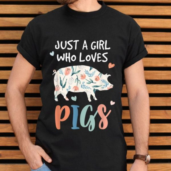 Just A Girl Who Loves Pigs Cute Pig Lover shirt