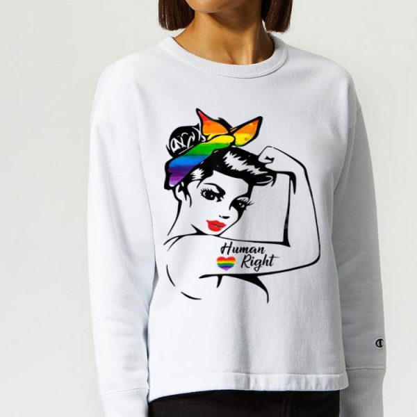 Lady Human Right Rainbow LGBT Pride shirt
