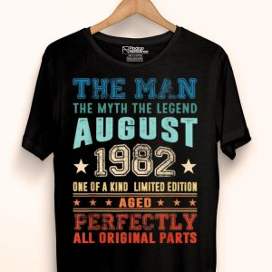Legend August 1982 Retro Vintage 37th Birthday shirt