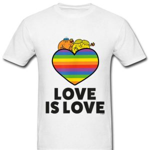 Love Is Love Rainbow Heart Pride Mr. Men And Little Miss shirt