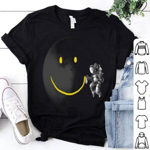 Make a Smile Graphic Astronaut Make The Moon A Smile shirt