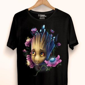Marvel Guardians Of The Galaxy Groot Flowers Graphic shirt