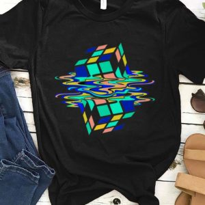 Neon Melting Rubik Cube Global Warming shirt