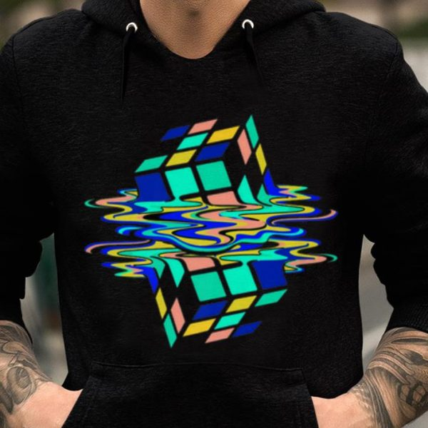 Neon Melting Rubik Cube Global Warming shirt