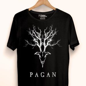 Pagan Tree Horn Goat Distressed Vintage Thunder Style shirt