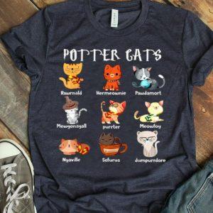 Purrter Cats Cute Harry Potter And Cats Pawter Meowfoy Dumpurrdore Pawdamort shirt