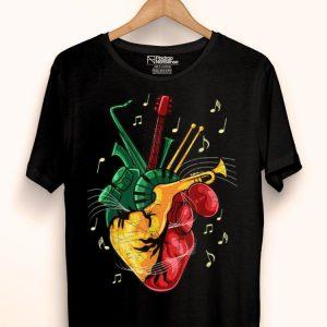 Reggae Lover Jamaican Heart Reggae Music Rastafari shirt