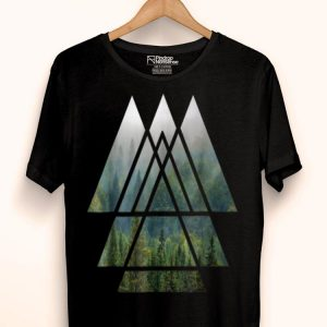Sacred Geometry Triangles - Misty Forest shirt