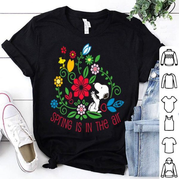 Spring Is In The Air Peanuts Snoopy And Flower Woodstock shirt
