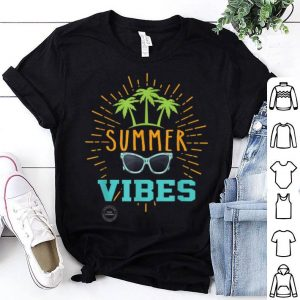 Summer Vibes Palm Trees And Sunglasses shirt