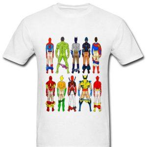 Superhero Butts Marvel And DC Supperheros Show Their Ass shirt