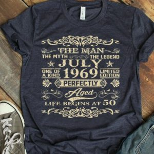 The Man Myth Legend July 1969 Life Begin At 50 shirt