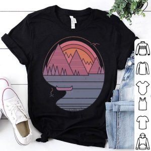 The Mountains Are Calling Summer Camping Sunset shirt