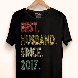 Vintage 2nd Wedding Anniversary Best Husband Since 2017 shirt