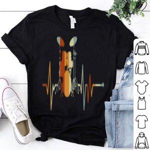 Vintage Drum Heartbeat Drummer Drum Lover shirt