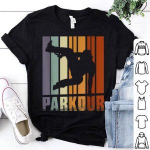 Vintage Parkour Training Discipline Using Movement shirt