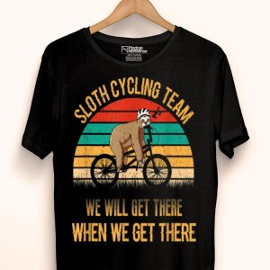 Vintage Sunset Sloth Cycling Team We Will Get There shirt