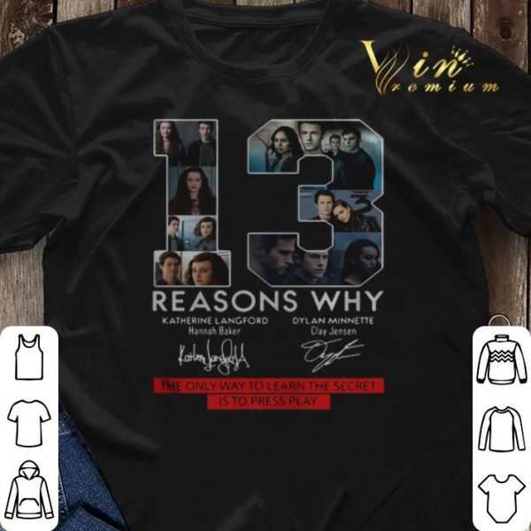 13 Reasons Why the only way to learn the secret is to press play shirt sweater