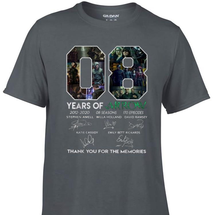 8 Years Of Arrow Thank You For The Memories Signature shirt 1 - 8 Years Of Arrow Thank You For The Memories Signature shirt