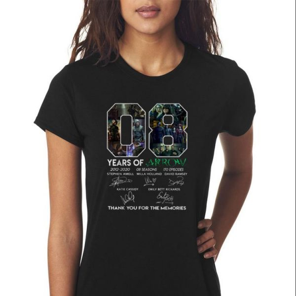 8 Years Of Arrow Thank You For The Memories Signature shirt