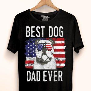 American Flag Best Dog Dad Ever Bulldogs USA shirt