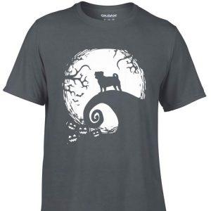 Aweome Halloween pug dog and full moon shirt