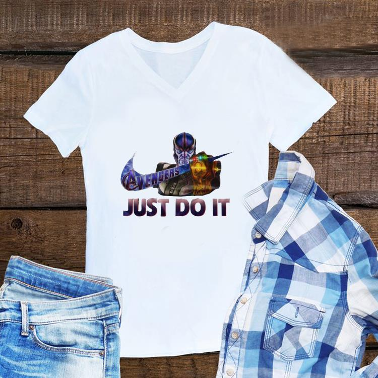 Aweome Marvel Thanos Nike Avenger Just Do It shirt 1 - Aweome Marvel Thanos Nike Avenger Just Do It shirt