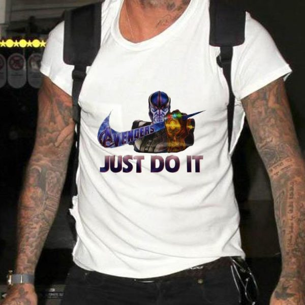 Aweome Marvel Thanos Nike Avenger Just Do It shirt