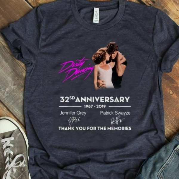 Awesome Dirty Dancing 32 Anniversary Thank You For The Memories Signature shirt