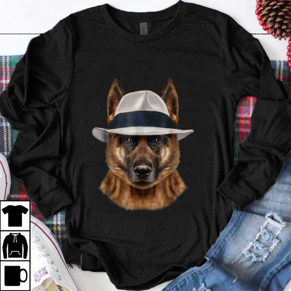 Awesome German Shepherd Dog in Fedora Hat shirt