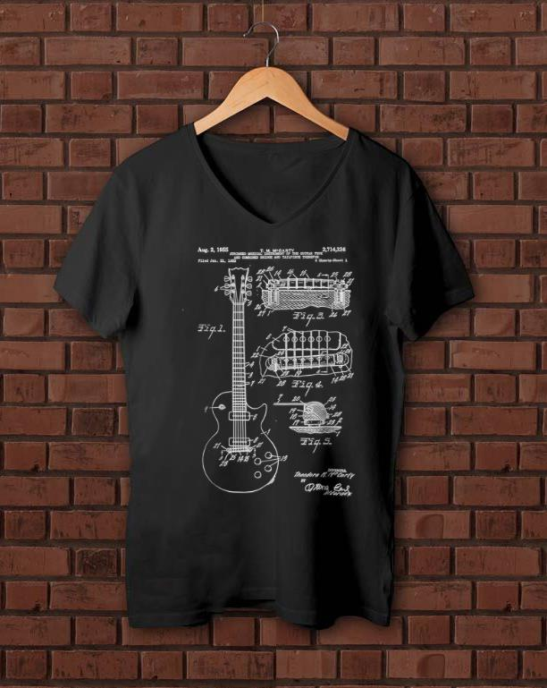 Awesome Guitar Patent Print 1955 shirt 1 - Awesome Guitar Patent Print 1955 shirt