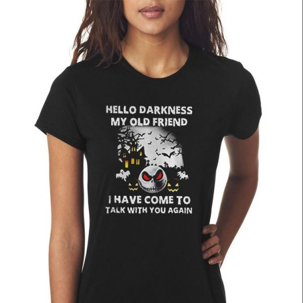 Awesome Jack Skellington Hello Darkness My Old Friend shirt