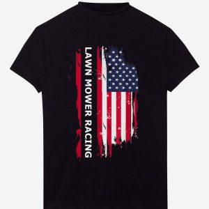Awesome Lawn Mower Racing American Flag shirt
