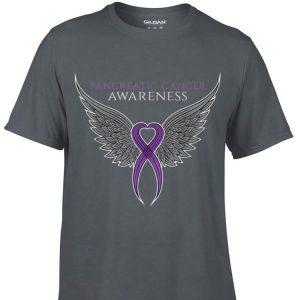 Awesome Purple Pancreatic Cancer Awareness Ribbon shirt