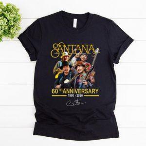 Awesome Santana 60th Anniversary 1960 2020 Signature shirt