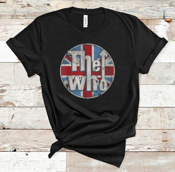 Awesome The Who Union Jack Circle Logo shirt