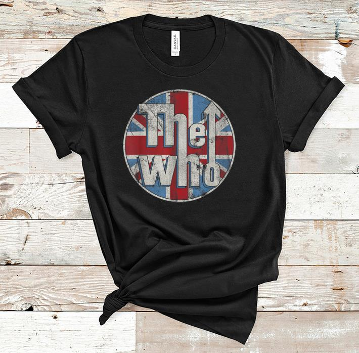 Awesome The Who Union Jack Circle Logo shirt 1 - Awesome The Who Union Jack Circle Logo shirt