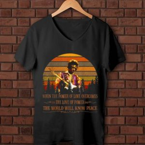 Awesome Vintage Jimi Hendrix When Power Of Love Overcomes Love Of Power The World Will Know Peace shirt