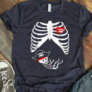 Beautiful Baby Pregnant Skeleton Xray Halloween Pirate Boy shirt