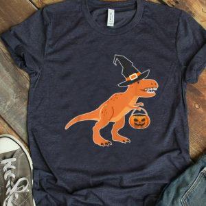Beautiful T-rex Dinosaur Witch Halloween Funny Costume Gift shirt