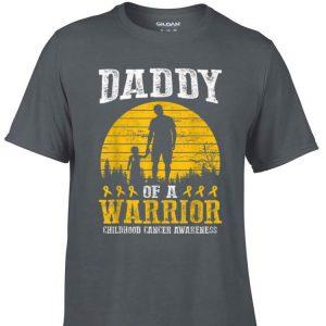 Daddy Of A Warrior Childhood Cancer Awareness shirt