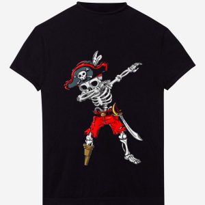 Hot Dabbing Skeleton Pirate Halloween shirt