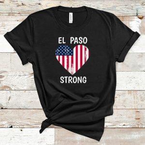 Hot El Paso Strong American Flag Heart shirt