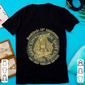 Hot Woodstocks 50th Anniversary Peace Love Music 1969 2019 White Lake New York shirt