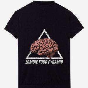 Hot Zombie Food Pyramid Funny Zombie Eat Brain Halloween Gift shirt