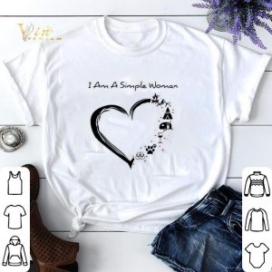 I am a simple woman i love flip flop paw dog wine glass camping shirt sweater