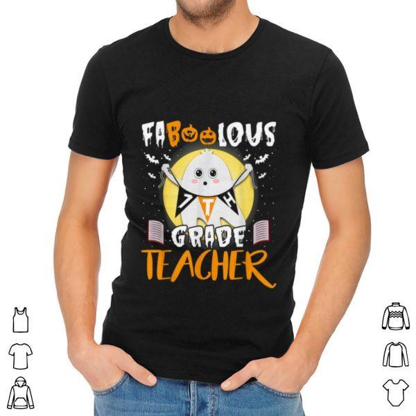 Nice Faboolous 7th Grade Boo Ghost Teacher Funny Halloween shirt